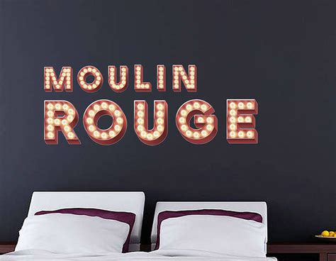 Letter Cinema Wall Stickers Retro Cinema Marquee Letters Contemporary Wall Stickers