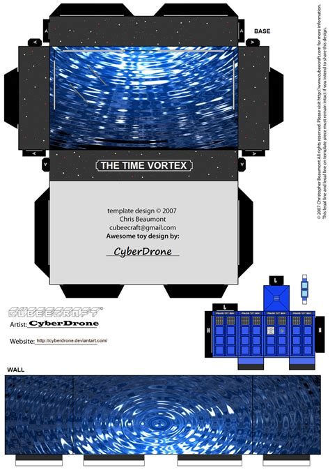 doctor who template cubee dr who mini diorama 2 by cyberdrone on deviantart