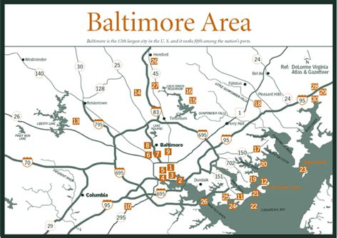 printable map of baltimore sherpa guides chesapeake bay central maryland