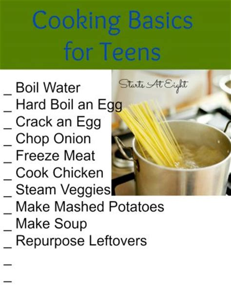 life skills as high school electives cooking basics for teens startsateight