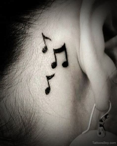 music note tattoo behind ear tattoos designs pictures page 6