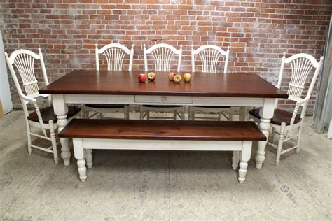 black distressed kitchen table with bench farm benches diy farmhouse to farmhouse kitchen table