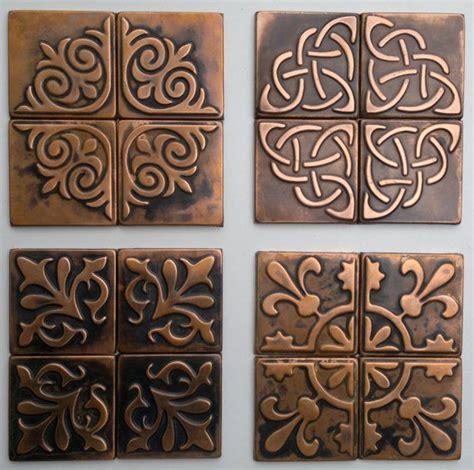 metal wall tiles kitchen backsplash copper kitchen backsplash set of 4 tiles copper decor rustic modern copper metal wall