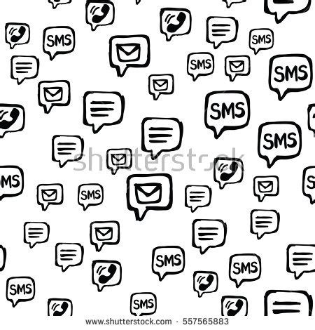 cell pattern en français cell phone sms email communications seamless stock vector