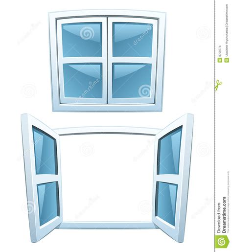 Wall Stickers Clouds cartoon windows stock images image 8759774