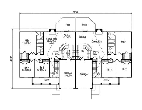 ranch duplex floor plans shadydale multi family duplex income property