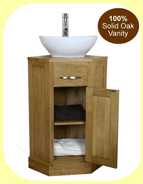 Oak Corner Vanity Unit by Oak Corner Bathroom Vanity Unit Small Cloakroom Sink
