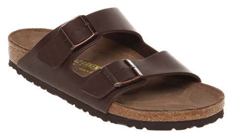 sandal shoes mens mens birkenstock arizona sandal brown rubber sandals ebay