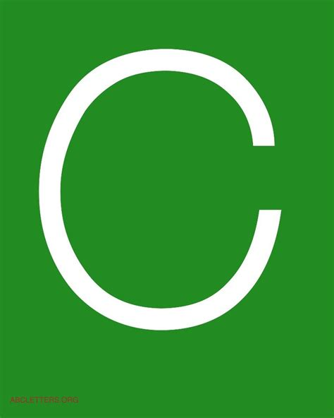 Green C large abc letters white green abc letters org