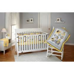 little bedding by nojo elephant time 4 piece crib bedding set yellow bedding amp decor walmart