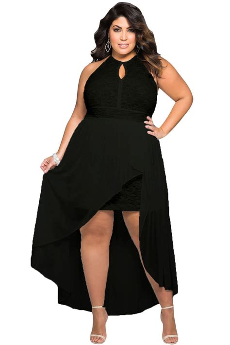 Jumpsuit Black Brukat Sevy stylish black lace special occasion plus size bodycon