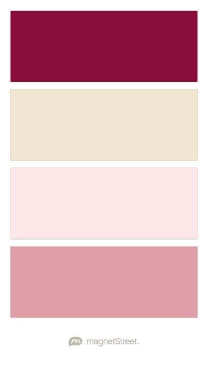 create wedding color palette burgundy chagne and blush wedding color