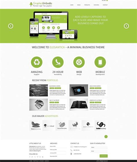 website themes templates free psd corporate business website template free
