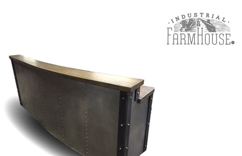 Metal Reception Desk Restaurant Office Tufted Metal Front Reception Desk The Industrial Farmhouse