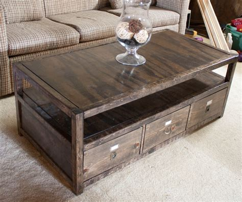 diy coffee table with storage white rhyan coffee table diy projects