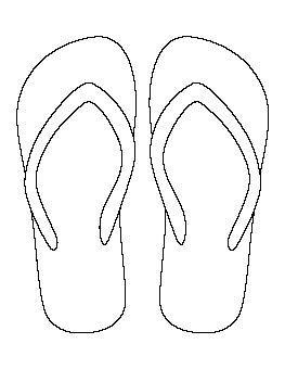 template of flip flops flip flop pattern string clip patterns and flip flops