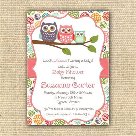 owl themed baby shower invitation template baby owl baby shower invitations theruntime