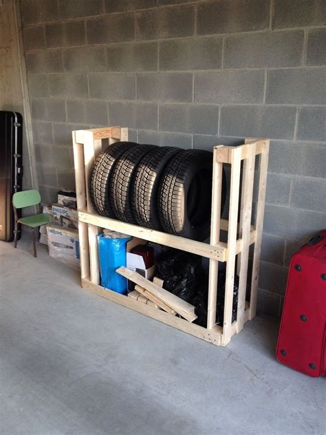 tire rack  upcycled wooden pallets recycled pallets ideas projects garage organization