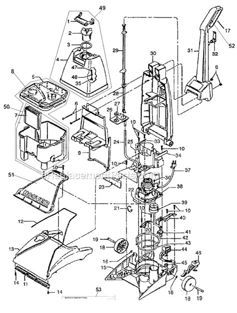 hoover steamvac parts diagram hoover f5810 parts list and diagram ereplacementparts