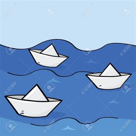 cartoon paper boat boat race clipart 65