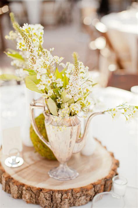 vintage teapot floral vase centerpiece