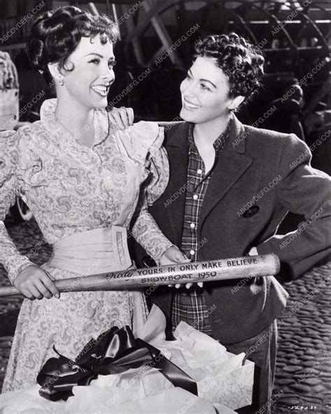 show boat 1951 ava gardner and kathryn grayson on the set of show boat