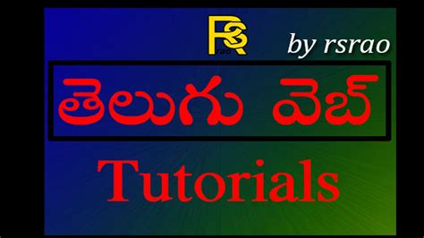 bootstrap tutorial in telugu telugu web tutorials bootstrap part13 web page building