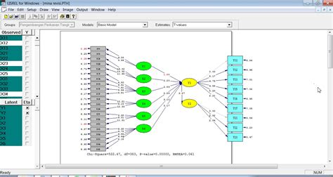 Structural Equation Modeling Dengan Lisrel 8 8 Graha Ilmu grha statistika sem model menggunakan lisrel 8 8