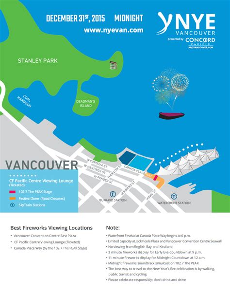 new year parade vancouver 2015 map new year s vancouver 2016 countdown festival and