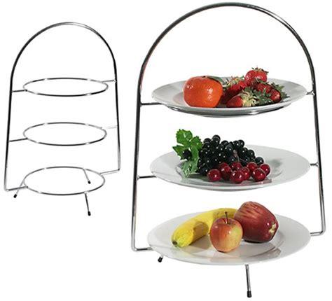chrome plated three tier buffet stand 589073 brakes - Etagere Zerlegbar