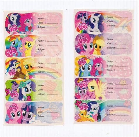 Label Nama Pony L jual sticker label nama my pony di lapak lie shop