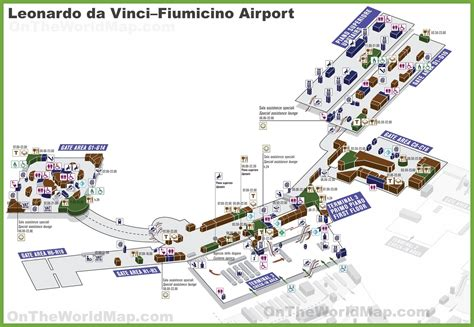 Da Search Rome Airport Map Terminal 3 Images