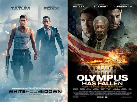 film action white house white house down vs olympus has fallen a comparative