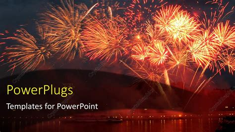 fireworks templates free powerpoint template lots of sparkling bright fireworks on