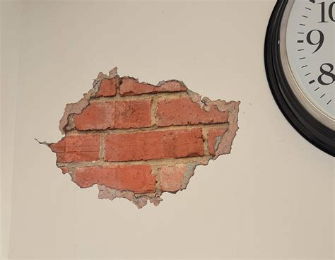 brick wall stickers brick and plaster wall sticker contemporary wall stickers