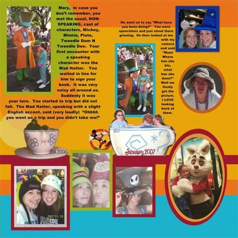 scrapbook layout with 6 photos a look at disney scrapbooking with deb kavanaugh