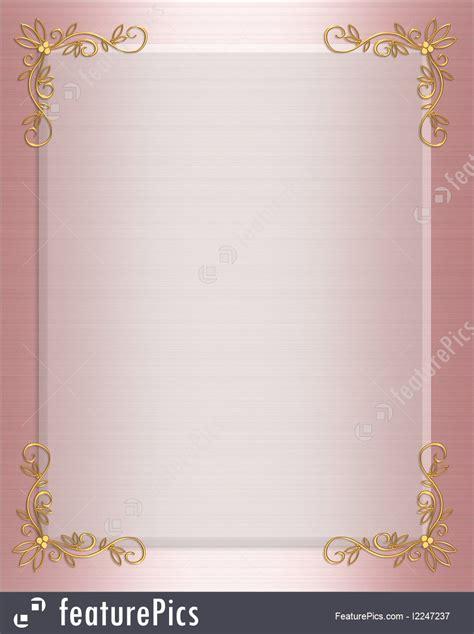Templates: Pink Satin Formal Invitation Border   Stock Illustration I2247237 at FeaturePics