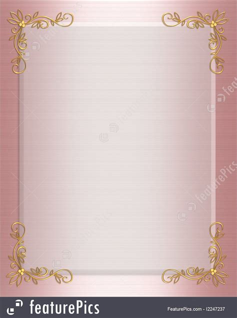 templates pink satin formal invitation border stock