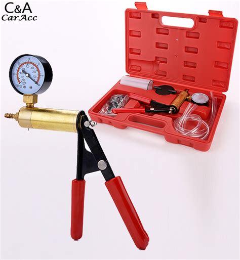 Tester Minyak Rem 5 Indikator Led 2016 baru minyak rem pemeras tangan vacuum pistol pompa tester kit adapter w kasus pengiriman