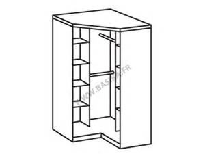 armoire d angle 2 portes oskar chene