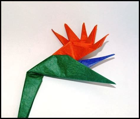 bird of paradise origami flower comot