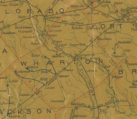 wharton county texas map wharton county texas