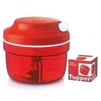 Pisau Tupperware by Tupperware Turbo Chopper Pemotong Makanan Merah Lazada