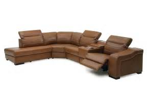 Sectional With Recliner Palliser Infineon Leather Reclining Sectional Collier S Furniture Expo