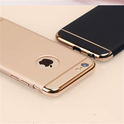 Casing Hp Cover Iphone 5 5s 6 6s 6 Plus 6s Plus Leather Metal luxury ultra thin coque phone for iphone 5 5s 6 6s 7