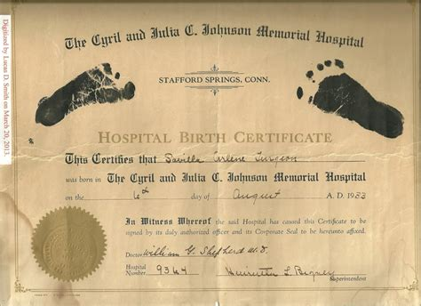 Wa Birth Records Barack Obama S Footprint Birth Certificate And Savilla Arlene Turgeon The Cyril