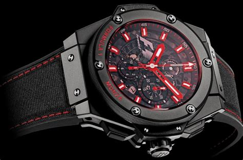 Jam Tangan Hublot King Power Black Matte hublot watches