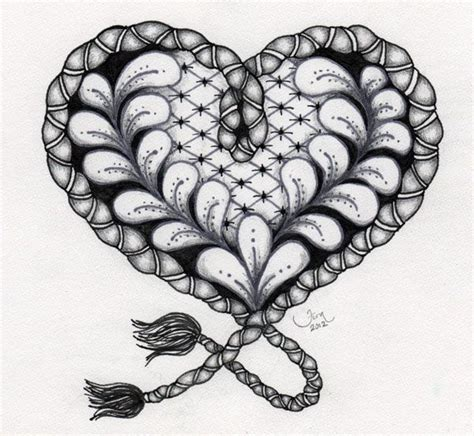 zentangle pattern growth 223 best images about zentangle hearts on pinterest