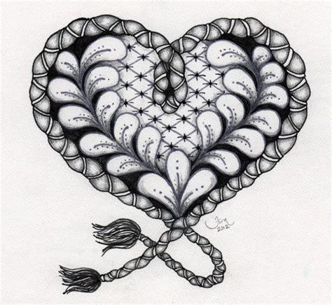 zentangle pattern growth 223 best zentangle hearts images on pinterest zentangle