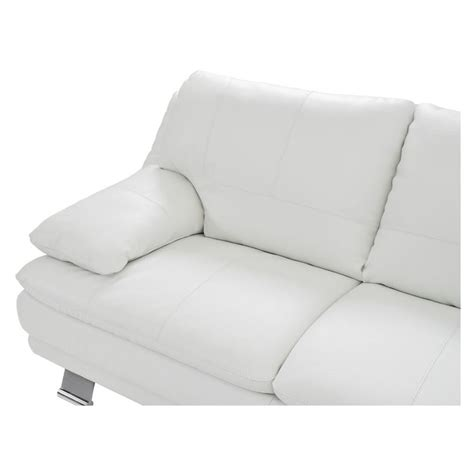 white leather couch with chaise rio white leather sofa w right chaise el dorado furniture